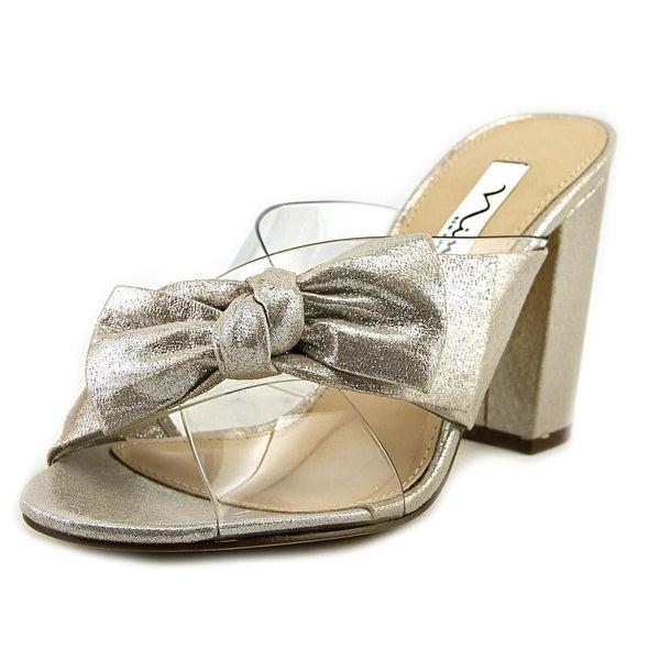 Nina Samina Women Clear/New Silver Sandals