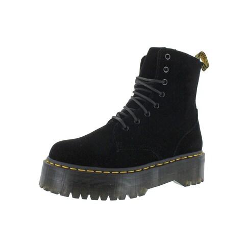 Dr. Martens Womens Jadon Ankle Boots Velvet Fashion