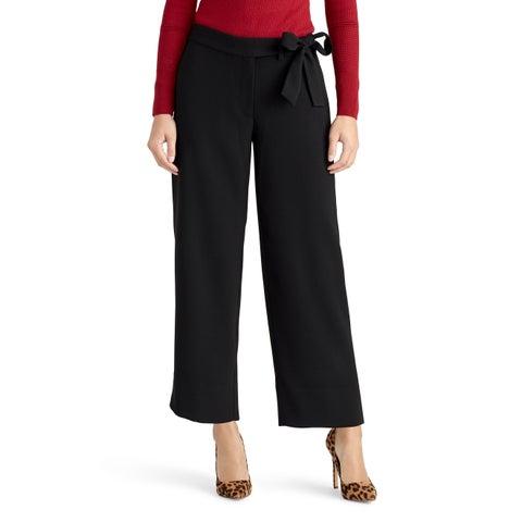 Rachel Roy Black Women's Size 10 Belted Wide Leg Dress Pants