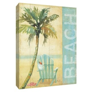 "PTM Images 9-154817  PTM Canvas Collection 10"" x 8"" - ""Ocean Beach I"" Giclee Beaches Textual Art Print on Canvas"
