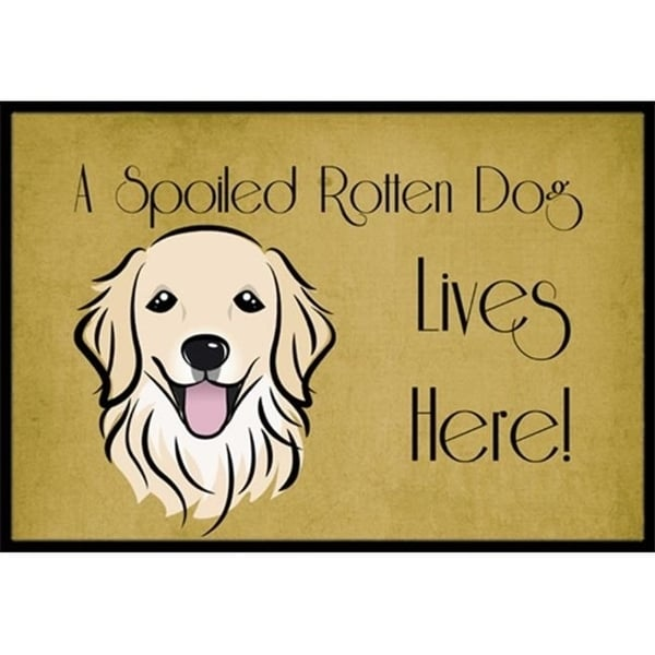 Carolines Treasures BB1453MAT Golden Retriever Spoiled Dog Lives Here Indoor & Outdoor Mat 18 x 27 in.