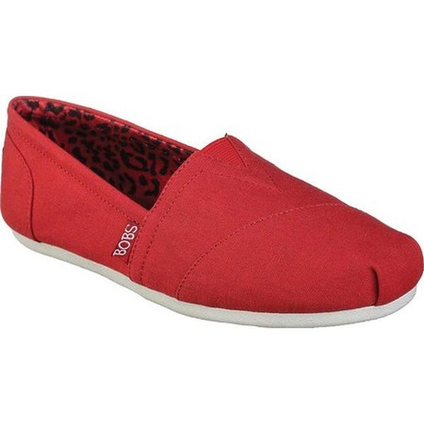 948230b665eb Shop Skechers Women s BOBS Plush Peace and Love Dark Red - On Sale ...