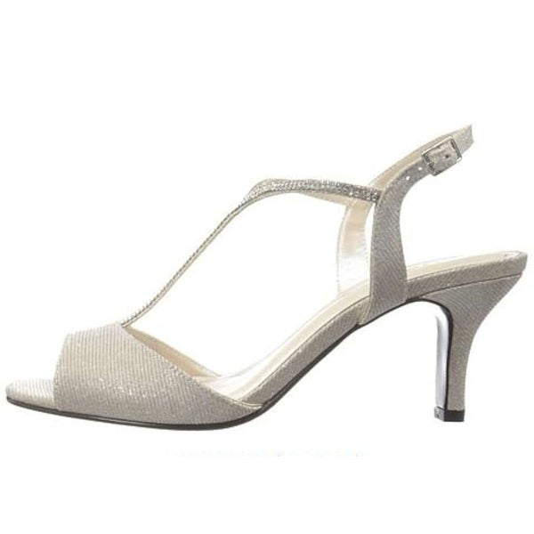 Caparros Delicia Open-Toe Canvas Heels