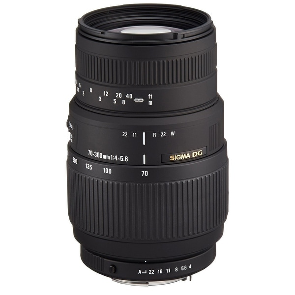 Sigma 70-300mm f/4-5.6 DG Macro Lens for Nikon F Mount Cameras - Black