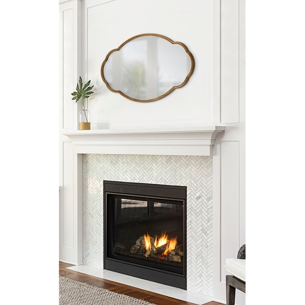 Kate and Laurel Magritte Scalloped Oval Wall Mirror. Opens flyout.