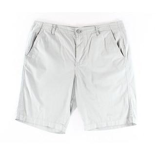 Calvin Klein NEW Monument Gray Mens Size 33 Seamed 4-Pocket Shorts
