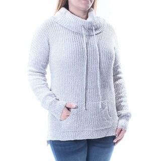 PLANET GOLD Gray Cowl Neck Long Sleeve Sweater Juniors XL B+B