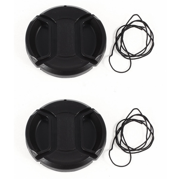 Unique Bargains 2 x DSLR Camera Front Lens Protective Cap Cover 52mm Black for Video Camcorders