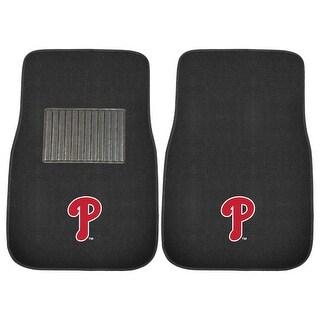 "MLB - Philadelphia Phillies 2-piece Embroidered Car Mats 18""x27"""