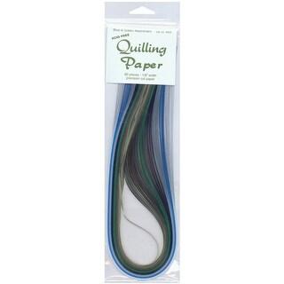 """Quilling Paper .125"""" 80/Pkg-Blue & Green (8 Colors) - Blue"""