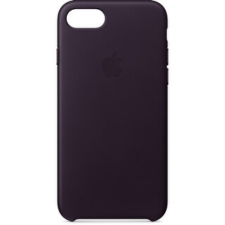 Apple iPhone 8/7 Leather Case (Dark Aubergine)