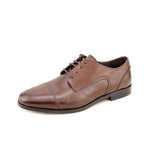 Florsheim Jet Cap Ox Men Round Toe Leather Brown Oxford