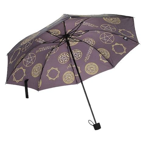 Supernatural Symbols Compact Umbrella - Brown