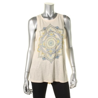 Lucky Brand Womens Slub Graphic Tank Top