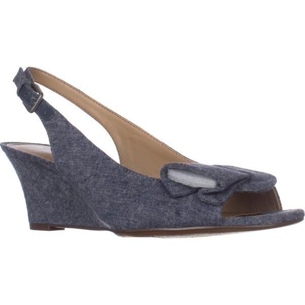 naturalizer Tinna Slingback Wedge Sandals, Denim - 7.5 w us