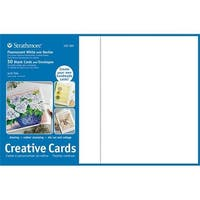 Full Size Creative Cards and Envelopes - Fluorescent White with