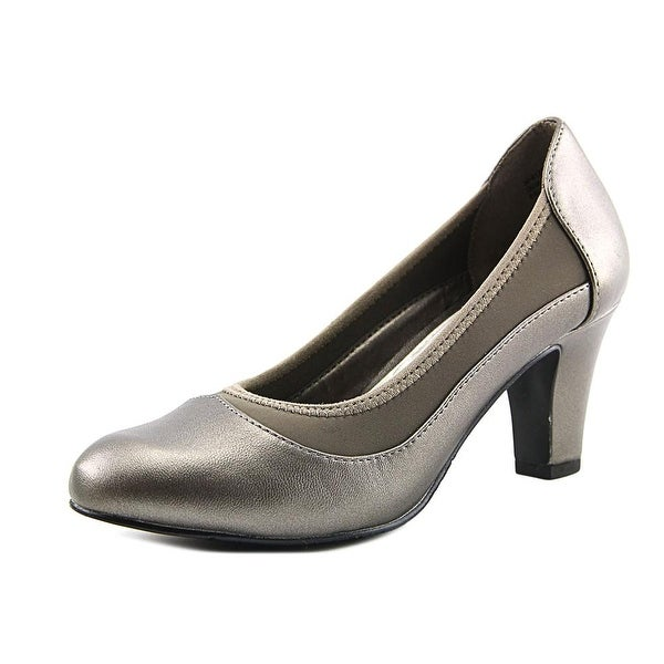 Easy Street Jordan Women Round Toe Leather Gray Heels