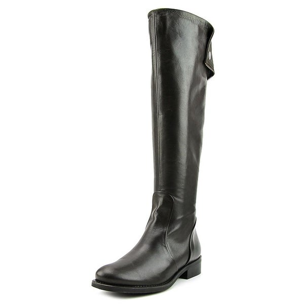 Aldo Haoaria Women Round Toe Leather Brown Knee High Boot