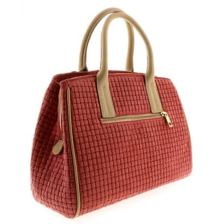 HS2076 CO SASA Coral Red Leather Satchel/Shoulder - 13-10-6|https://ak1.ostkcdn.com/images/products/is/images/direct/483861a0bb4c1b5084e810ed0fe58011e29f9a45/HS2076-CO-SASA-Coral-Red-Leather-Satchel-Shoulder.jpg?impolicy=medium