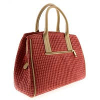 HS2076 CO SASA  Coral Red Leather Satchel/Shoulder - 13-10-6