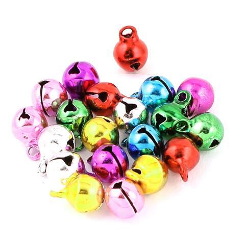 20Pcs Colorful DIY Loose Beads Christmas Decor Jingle Bells Charms 6mm