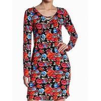 Loveappella Womens Large Floral Print Sheath Dress