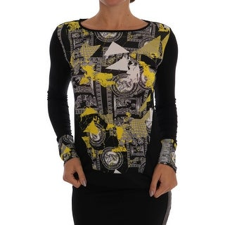 Versace Jeans Black Baroque Stretch Pullover Sweater