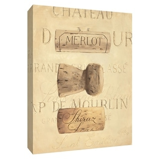 "PTM Images 9-154510  PTM Canvas Collection 10"" x 8"" - ""Chateau Nouveau Element V"" Giclee Wine Art Print on Canvas"