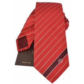 Gucci Men's 408866 Flame Red Woven Silk Interlocking GG Striped Neck Tie https://ak1.ostkcdn.com/images/products/is/images/direct/483a6ae3ba3ba78fc373090e03686a0b091a0033/NEW-Gucci-Men%27s-408866-Flame-Red-Woven-Silk-Interlocking-GG-Striped-Neck-Tie.jpg?impolicy=medium