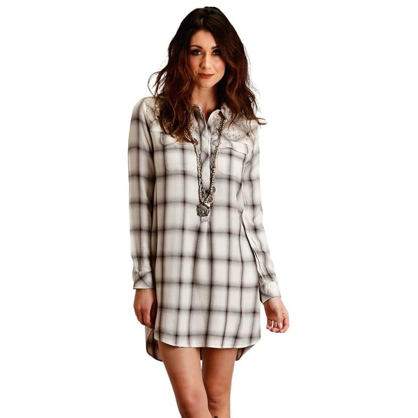 aa8170b1f8f6 Shop Stetson Western Dress Womens Plaid Long Sleeve - Free Shipping Today -  Overstock - 27980209