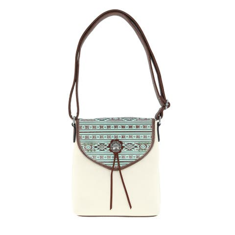 Blazin Roxx Women's Southwest Nicole Concealed Carry Crossbody Handbag - Ivory - one size