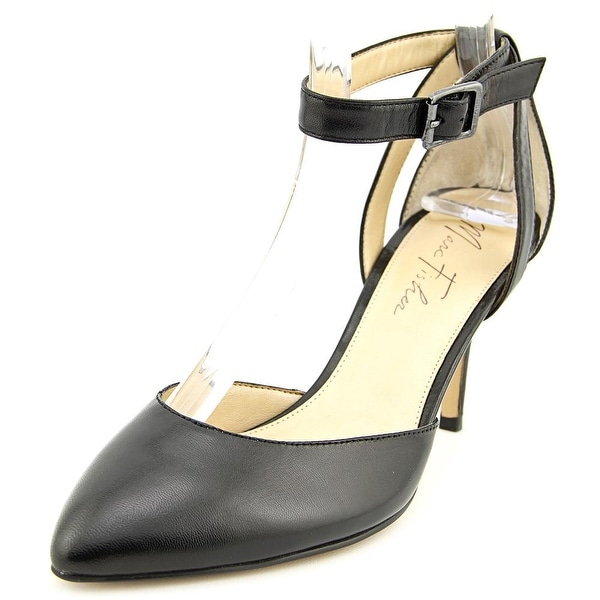 6b1b94c9c7b Shop Marc Fisher Hien Women Pointed Toe Leather Black Heels - Free ...