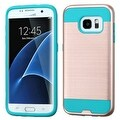 Insten Dual Layer Hybrid Rubberized Hard PC/ Silicone Case Cover For Samsung Galaxy S7 Edge - Thumbnail 0