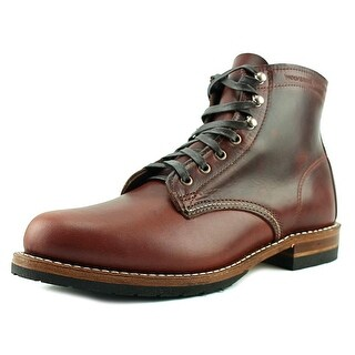Wolverine Evans Men Round Toe Leather Brown Work Boot