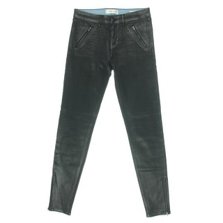 Habitual Womens Coated High Rise Skinny Jeans - 28