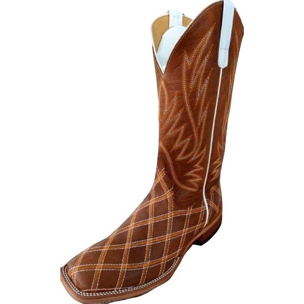 Horse Power Western Boots Mens Leather Cowboy Brass Monkey