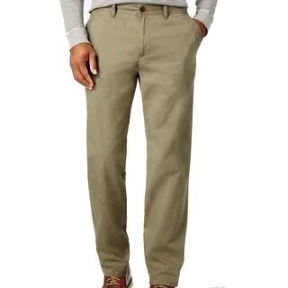 "Weatherproof Vintage Men's Marsden Olive Pants Olive Size 32""W x 32""L - Green - 32X32"