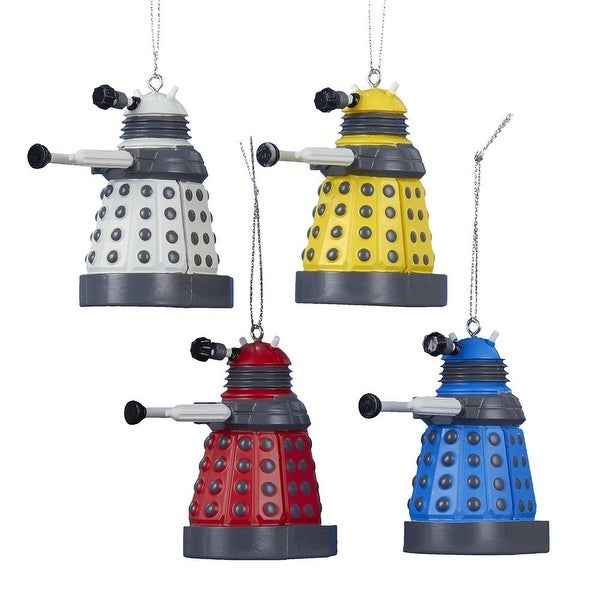 """Doctor Who 2.25"""" Dalek 4-Piece Ornament Gift Set"""