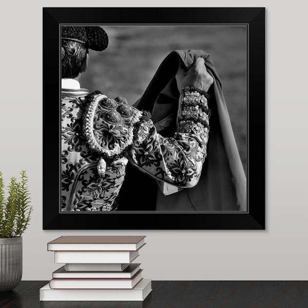 """Resolute"" Black Framed Print"