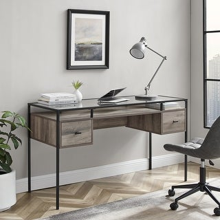 Link to Carson Carrington 56-inch Glass Top Writing Desk Similar Items in Student Desks