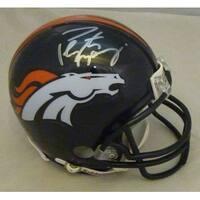 Peyton Manning Autographed Denver Broncos Riddell Mini Helmet