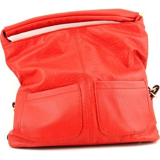 Mellow World Rose Pattern Women Synthetic Red Shoulder Bag