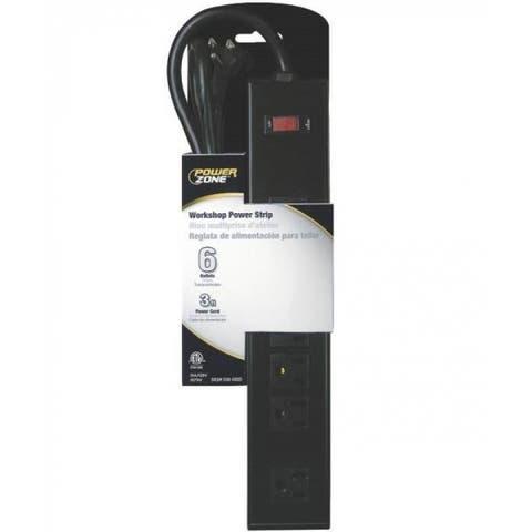 Mintcraft OR801123 Multiple Outlet Workshop Power Strip, 3, 6 Outlet