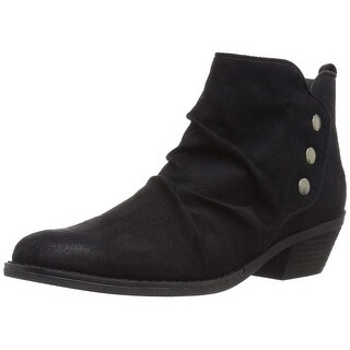 Report Women's Deryn Ankle Bootie, Black, Size 8.0 - 8