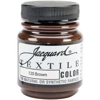 Jacquard Textile Color Fabric Paint 2.25oz-Brown