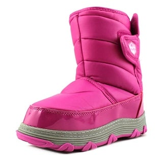 Khombu Magic Youth Round Toe Synthetic Pink Winter Boot