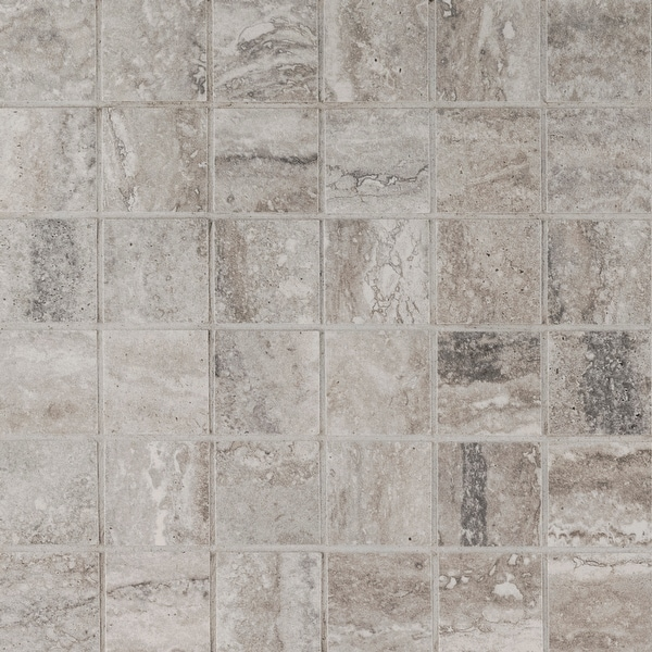 "MSI N2X2-MP Veneto - 2"" Square Mosaic Tile - Matte Porcelain Visual - Sold by Carton (8 SF/Carton) - Gray"