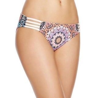 Red Carter Womens Printed Hipster Swim Bottom Separates