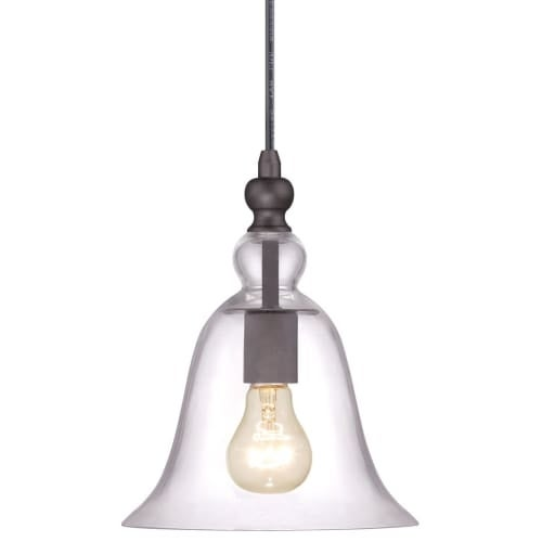 Miseno Mlit2203a Single Light Mini Pendant With Clear Bell Glass Shade