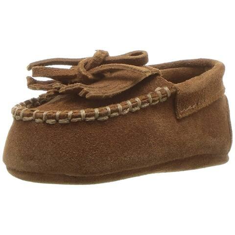 Kids Polo Ralph Lauren Girls Mila Moccain Suede Low Top Slip On Walking Shoes
